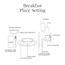 breakfast table set up