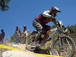 down hill mountain bike racing