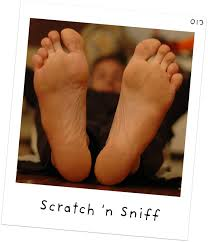 kids smelling feet