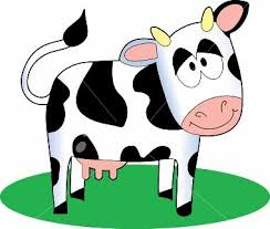 cartoon picture of a cow