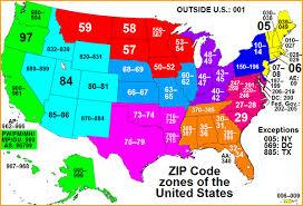 map with zipcode