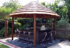 outdoor barbecue island