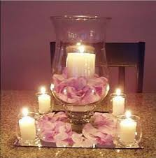 hurricane candle centerpieces