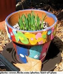 painted garden pots