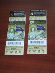 notre dame football ticket