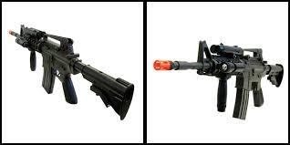 aeg electric m16 assault rifle fps 200 airsoft gun