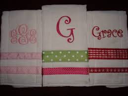 monogram burp cloths