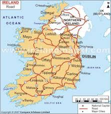 road map of ireland