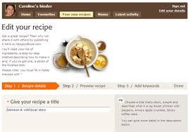 recipe form