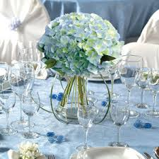 blue hydrangea wedding centerpieces