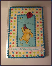 classic pooh cake topper