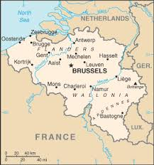 map of belgium and surrounding countries