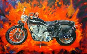 harley davidson paintings