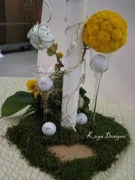 golf theme centerpieces
