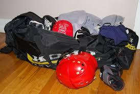old hockey gear