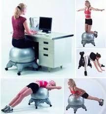 gym ball chair