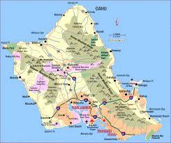 road map of hawaii