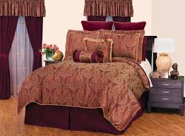 purple paisley bedding