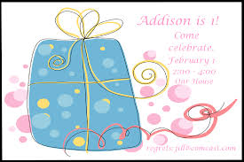 1st birthday invitation card