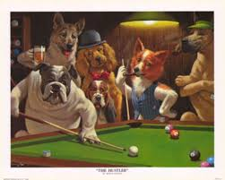 dog poker poster