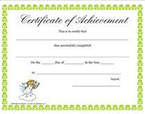 blank printable certificates