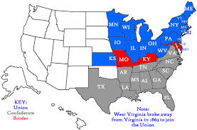 map of states during civil war