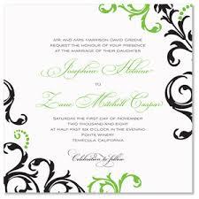 black and green wedding invitations