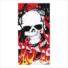 skull beach towels