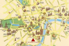 map of tourist attractions in london