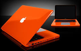 orange mac book