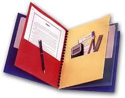 8 pocket folders