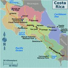 climate map of costa rica