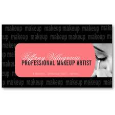makeup artist cards