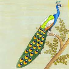 paintings of peacocks