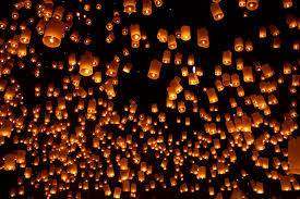 thai floating lanterns