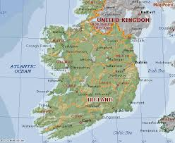 ireland geographical map