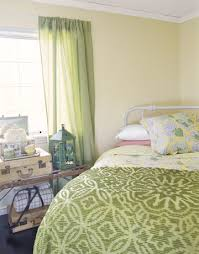 green and yellow bedding