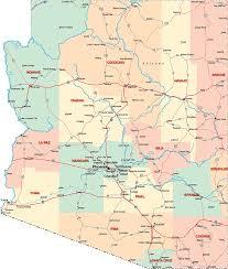 county map of arizona