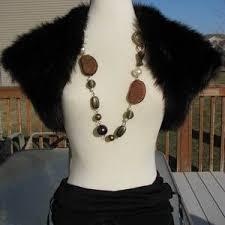 black fur bolero