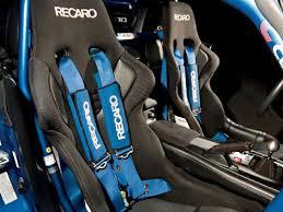 blue racing seat