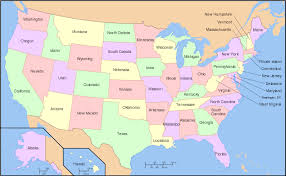 state map of america