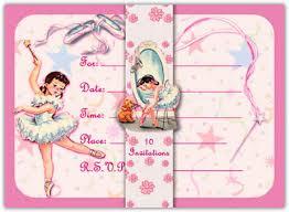 ballerina invitations