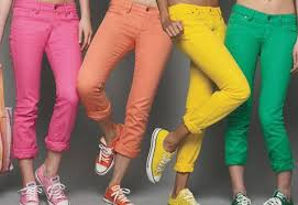bright color jeans