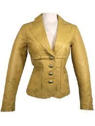 ladies leather blazers