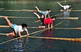 floating bamboo