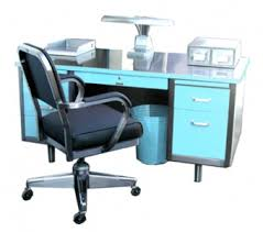 blue desks