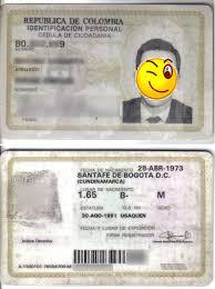 cedula de ciudadania colombiana
