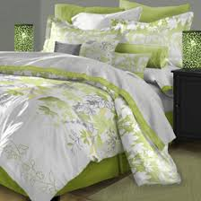 brown and green comforters