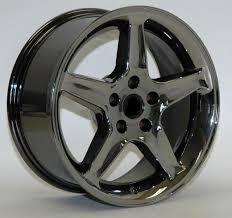 black and chrome wheels
