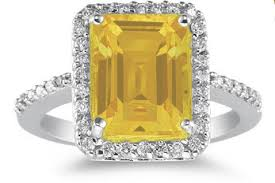 citrine and diamond rings